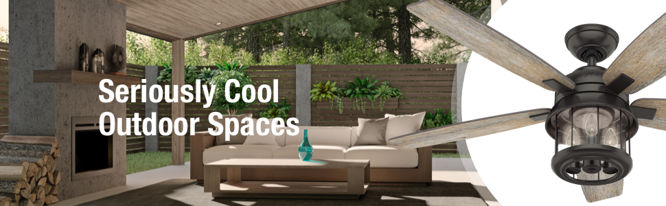 Hunter Fan Seriously Cool Outdoor Spaces