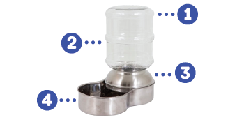 le bistro pet waterer, stainless dog water bowl, stainless steel dog water bowl,