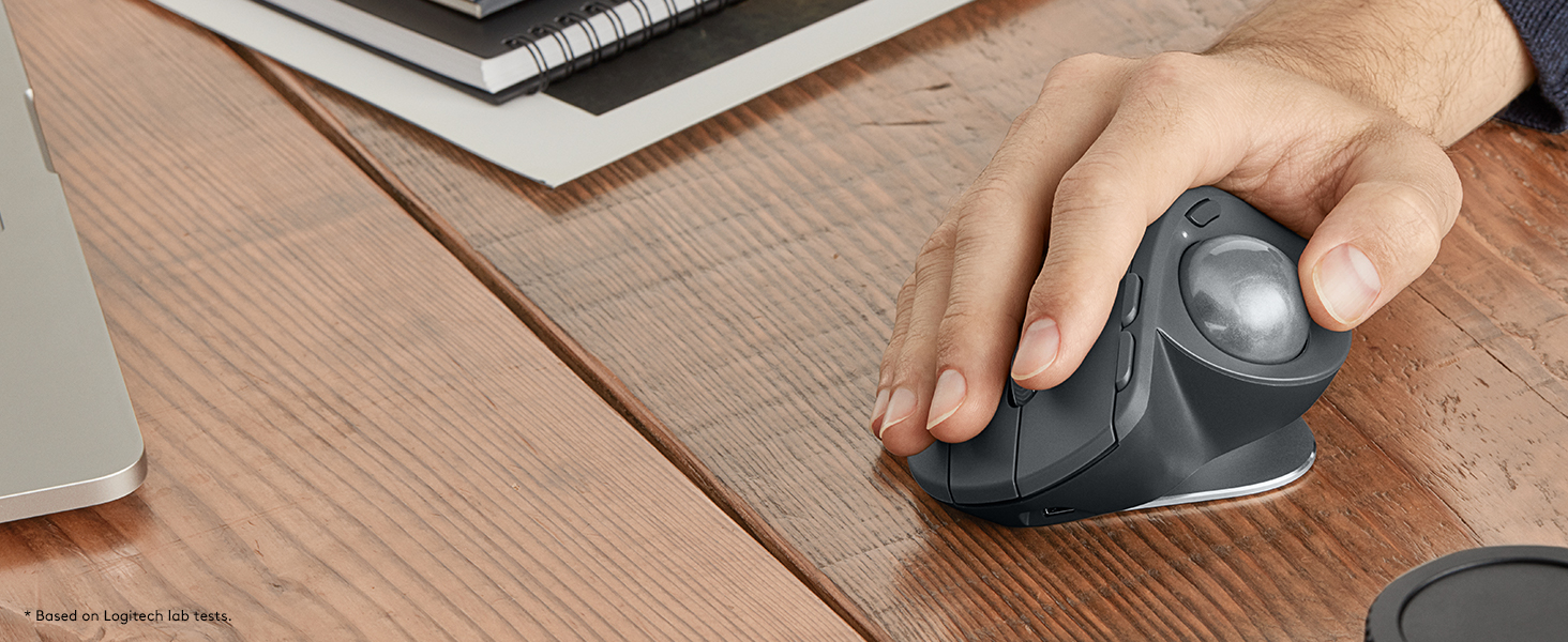 Logitech Mx Ergo Wireless Trackball Mouse Adjustable Door Lock Wiring Diagram Mah 4000 Aww Lasting Comfort