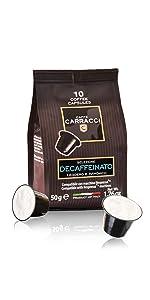 Capsule compatibili Nespresso Carracci Decaffeinato