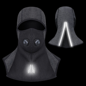 DIAOCARE Balaclava Face Mask Ski Face Mask Windproof Breathable Elastic Universal Size Motorcycle Snowboard Balaclava Face Mask Reflective Design with Zipper Filter Mask for Winter Activities