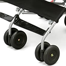 delta children stroller twins side by side kids toddler baby swivel front shock absorbing wheels