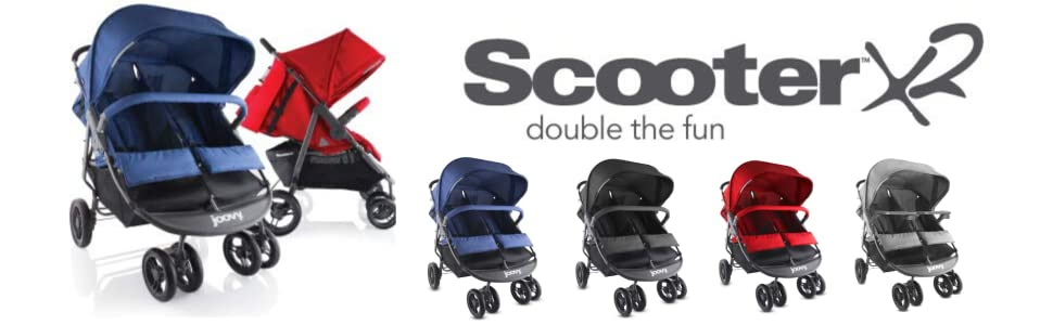 Scooter X2 double stroller large capacity toddler stroller