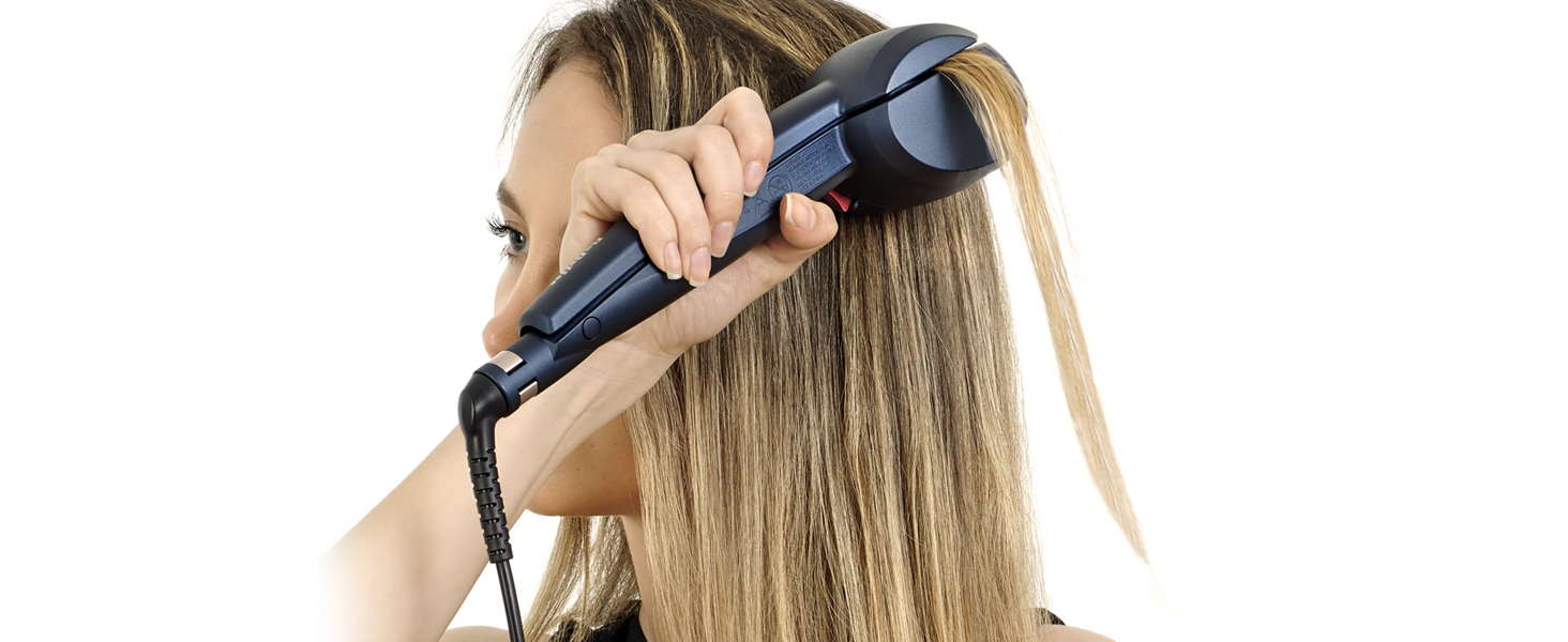 BaByliss C1500E – Rizador de pelo automático con Sensor Digital, ajusta automáticamente las opciones de temperatura y tiempo, todo tipo de rizos y ...