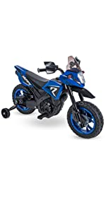 Battery powered ride on, ride on motorcycle, blue motorcycle, electric ride on toy