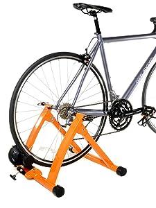 Indoor Bike Trainer Exercise Stand Orange Bicycle