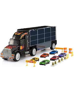 9b17df2e796d0 play22. Toy Truck Transport Car Carrier - Toy Truck Includes 6 Toy Cars and  Accessories ...