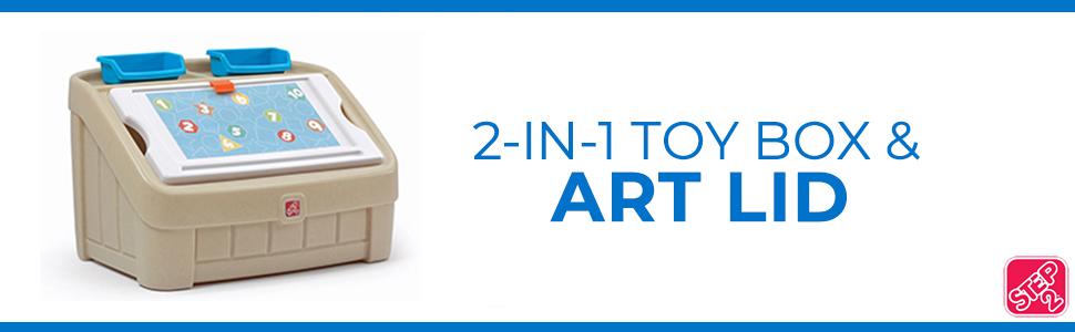 tan 2-in-1 art box