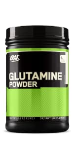 OPTIMUM NUTRITION GLUTAMINE POWDER MUSCLE RECOVERY SUPPLEMENT ADVANCED WORKOUT SUPPLEMENT MUSCLE ON