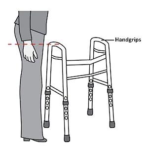 Amazon.com: Medline Bariatric – Andador plegable con ruedas ...