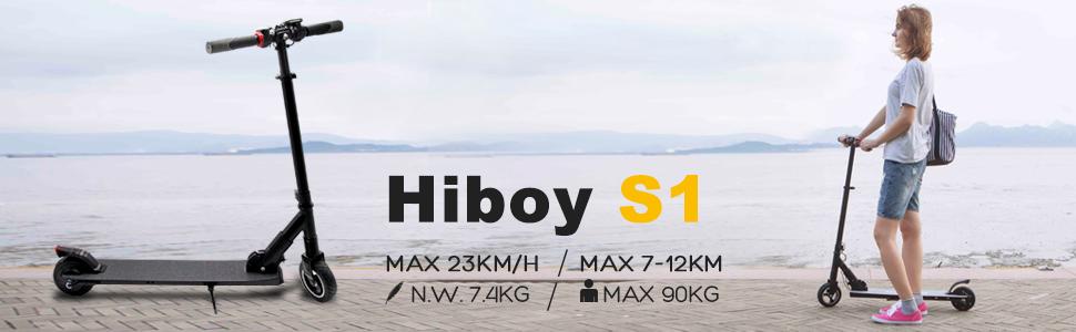 Hiboy Scooter Eléctrico Plegable con Batería de Litio, Scooter Eléctrico Plegable, Juventud Unisex