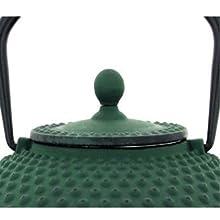 TheKitchenette 7321632/Kanji Tetera de Hierro Fundido Verde 21/x 21/x 9/cm 1,25/l