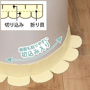 サンコー ズレない汚れ防止テープ おくだけ吸着 便器すきまテープ 巾8×長さ58cm 日本製 無地 柄 吸着テープ 2枚 プリント 動物 床汚れ 垂れ