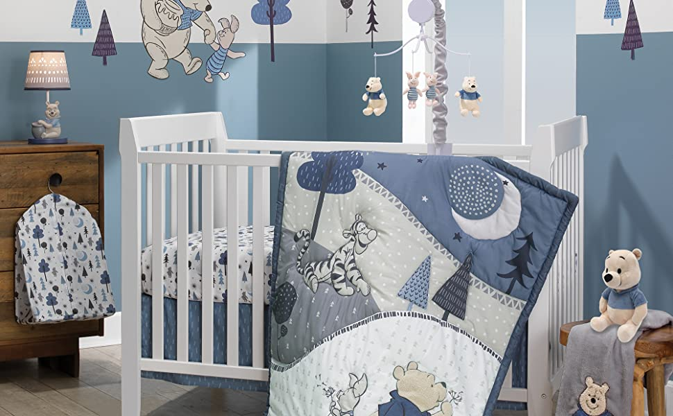 Forever Pooh Nursery with Crib Set