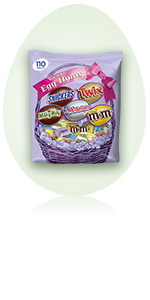SNICKERS, TWIX, MILKY WAY, 3 MUSKETEERS & Peanut M&M'S Easter Candy Variety Mix Bag