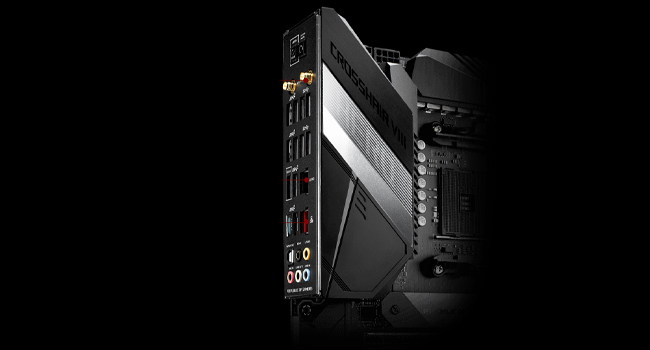 ROG Crosshair VIII Hero comes with on-board Wi-Fi 6 (802.11ax) support, offering ultrafast networki