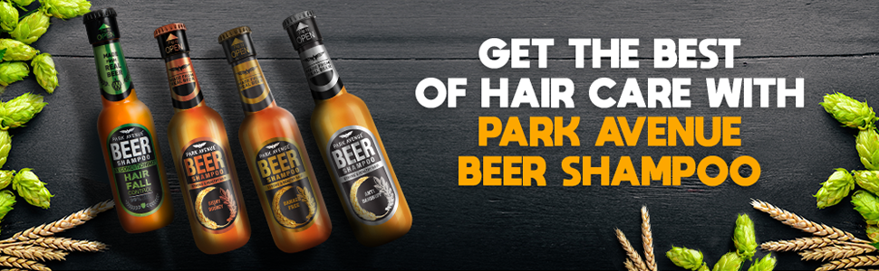 beer shampoo smooth anti-dandruff hairfall hair control man strong park avenue straight curly strong