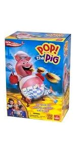 pop, pig, hamburgers