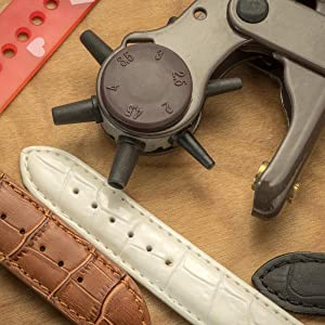 heavy duty rotary leather hole punch shorten watchbands eyelets rivets leather craft leathercraft