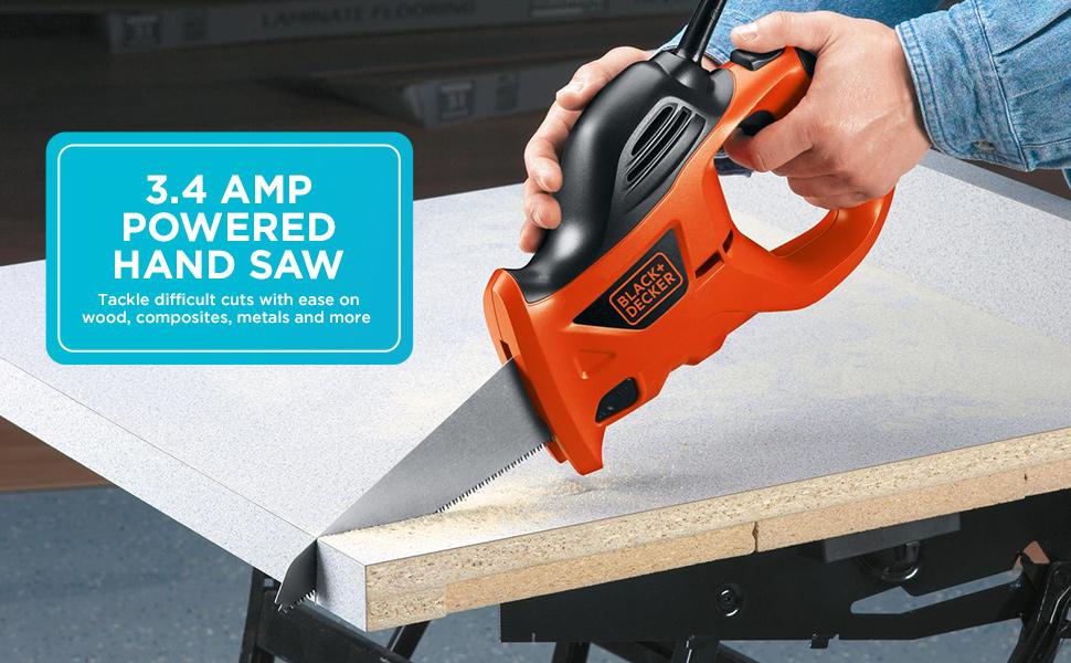 BLACK+DECKER 3.4 Amp Electric Powered Handsaw (PHS550B)