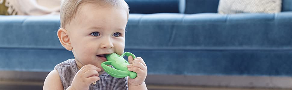 lil nibblers, silicone teether, teething, soothing, teethers, baby, development
