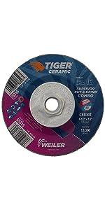 Weiler Tiger Ceramic Grinding Wheel
