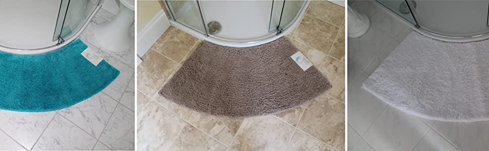 Cazsplash Luxury Quadrant Large Curved Shower Mat