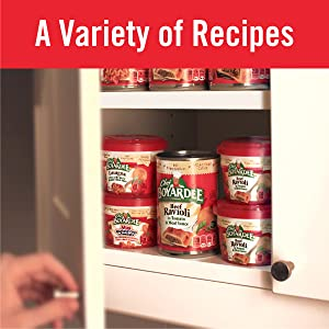 Easy to make microwave pasta meals from Chef Boyardee