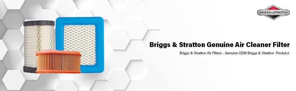 Luchtfilter en voorfilter Briggs en Stratton originele onderdelen