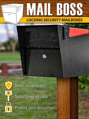 modern mailbox with post
