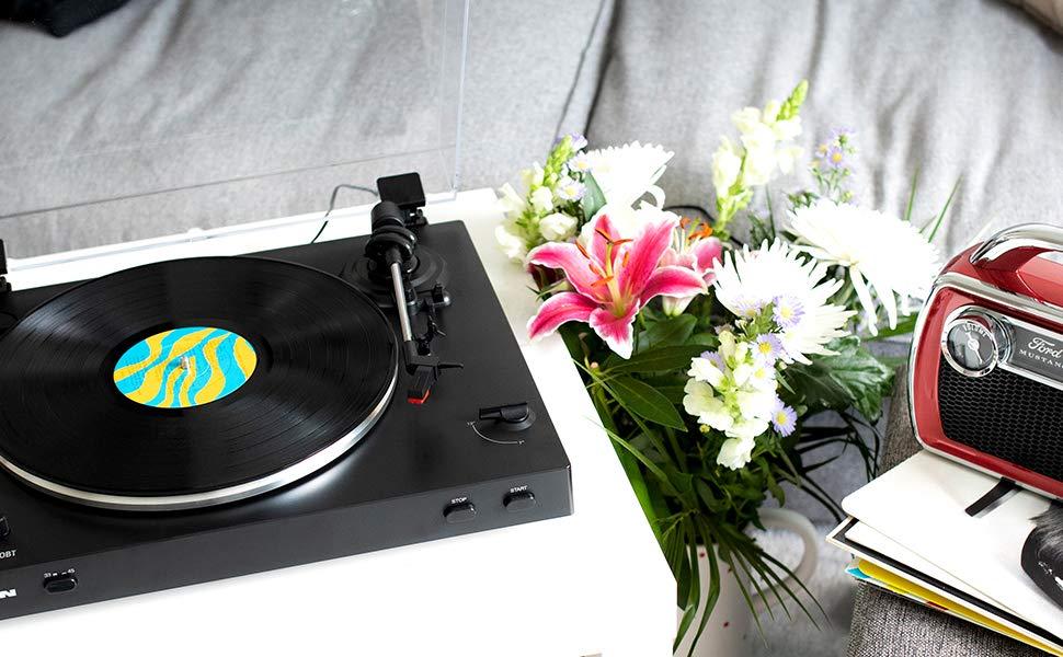 ベルトドライブ式レコードプレイヤー,ベルトドライブ式レコードプレイヤー,ターンテーブル,レコード,自動,アイオンオーディオ,ION Audio,オートマティックレコードプレイヤー,蓄音機