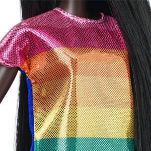 Barbie FJF50 Moda e bellezza fashioniste Bambola-RAINBOW SPARKLE dress-ORIGINALE