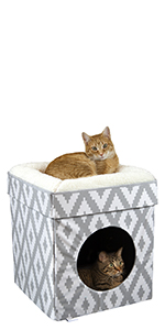 cat bed, cat cube, cat toy