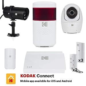 KODAK Vision+ Premium Kit Alarma de Seguridad Hogar - 2X ...