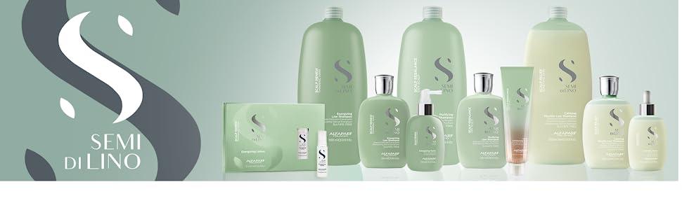 Alfaparf Milano Semi Di Lino Shampoo scalp relief rebalance renew dandruff thinning hair loss scrub