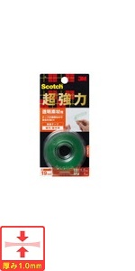 3M スコッチ 超強力両面テープ 透明素材用 19mm×1.5m KTD-19