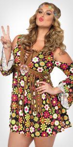 costume, plus size, hippie, 70s, disco, time period