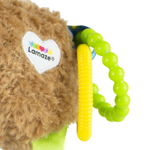 Clickety Clack! Mortimer's tail rings create engaging sounds