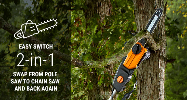 The pole connects quickly, and without the need for any tools. So you can cut down those problema