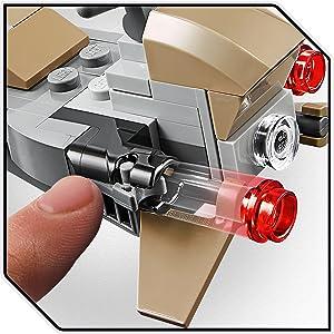 Split From LEGO Star Wars 75267 Boxed Mandalorian Speeder /& Gun Placement only