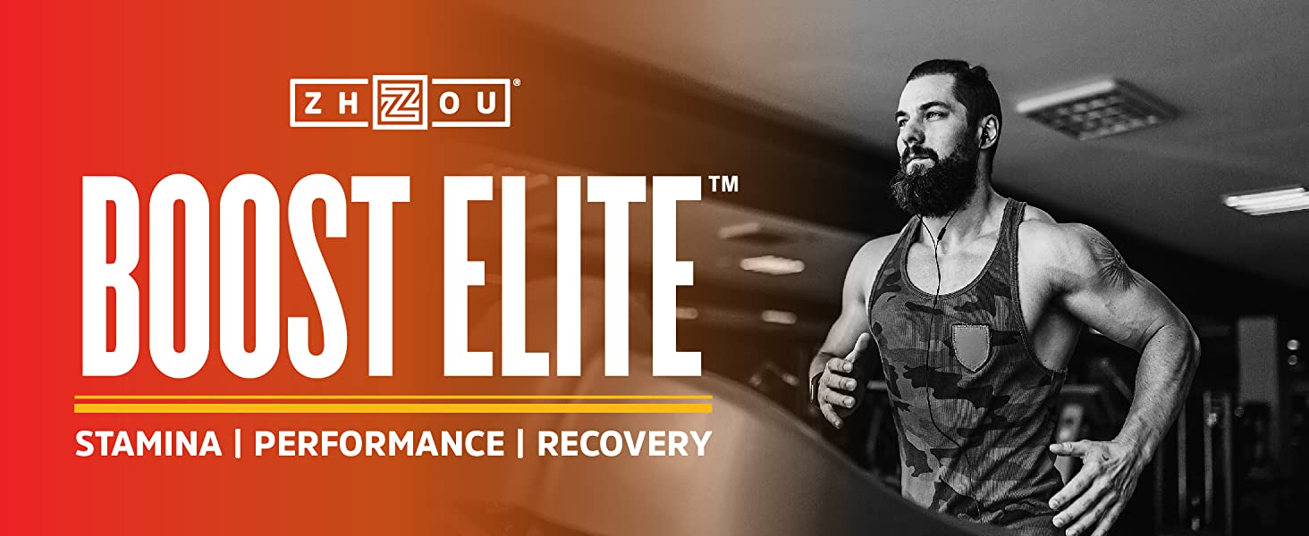 man exercising - zhou boost elite for stamina, performance, and recovery
