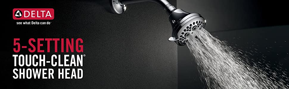 5 setting showerhead