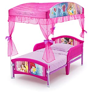Amazoncom Delta Children Canopy Toddler Bed Disney Princess Baby