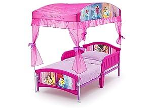 225 & Delta Children Canopy Toddler Bed Disney Princess
