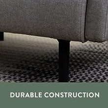 durable construction modern black metal legs