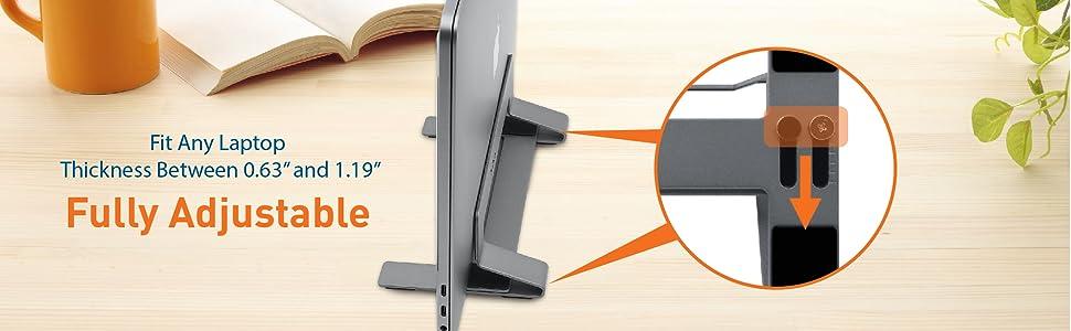 Vertical Laptop Stand for Desk Space   Adjustable Vertical Stand Cradle   Laptop Holder