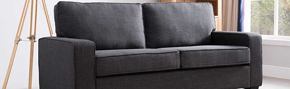 Amazon.com: New Ridge Home Goods 2000-Gry Grey Monder Sofa ... on home furniture store bedrooms, scandinavian designs furniture sofas, ethan allen furniture sofas, big lots furniture sofas,