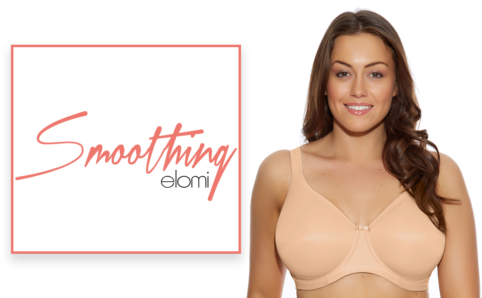 smoothing, elomi, elomi lingerie, lingerie, plus size, full figure, bra, bras