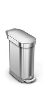 Amazon.com: Bote de basura con pedal rectangular con ...