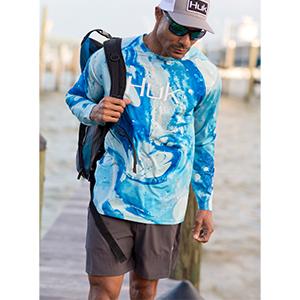 huk low country shorts fishing shorts board shorts hiking shorts cargo shorts quick dry short mens